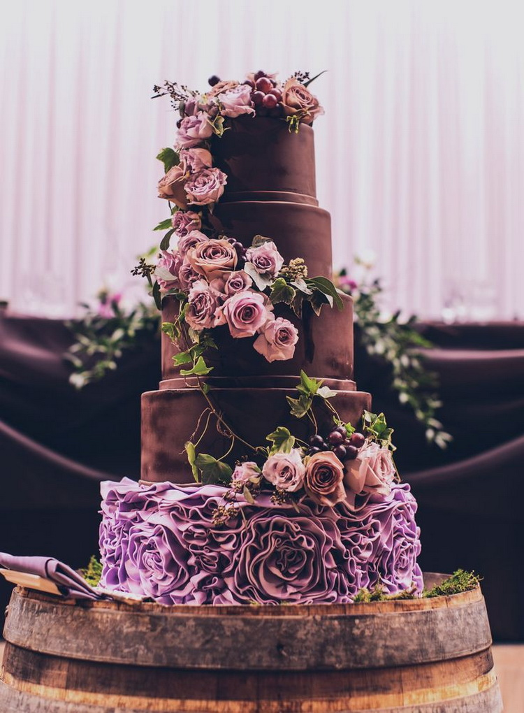 stunning purple wedding cake designs perfect wedding day - 750×1020